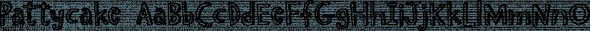 Pattycake font family by Atlantic Fonts