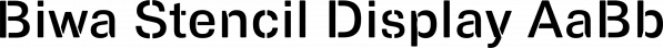 Biwa Stencil Display font family by Wordshape