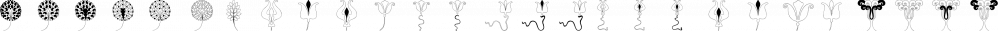 Jugendstil Flowers Four font family by Intellecta Design