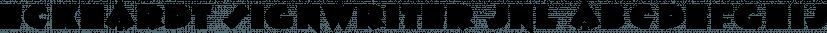 Eckhardt Signwriter JNL font family by Jeff Levine Fonts