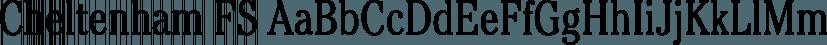 Cheltenham FS font family by FontSite Inc.