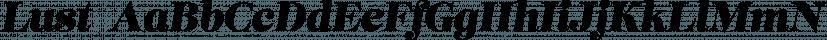 Lust  font family by Positype