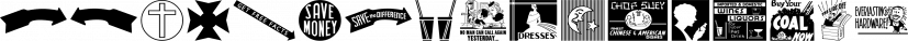 Letterpress Embellishments JNL font family by Jeff Levine Fonts