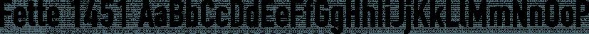 Fette 1451 font family by FontSite Inc.