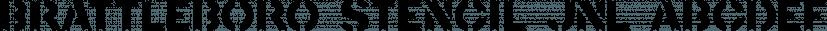 Brattleboro Stencil JNL font family by Jeff Levine Fonts