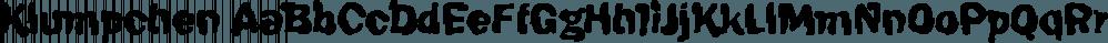 Klumpchen font family by FontSite Inc.