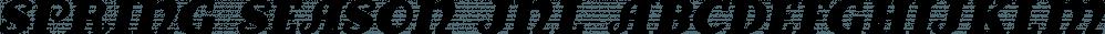 Spring Season JNL font family by Jeff Levine Fonts