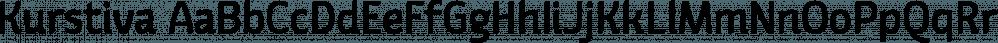 Kurstiva font family by Typogama