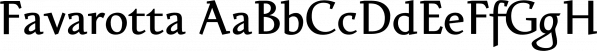 Favarotta font family by Eurotypo
