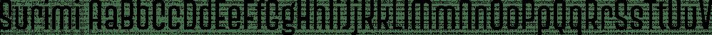 Surimi font family by JCfonts
