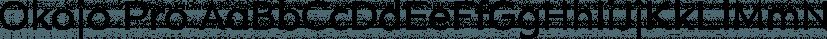Okojo Pro font family by Wordshape