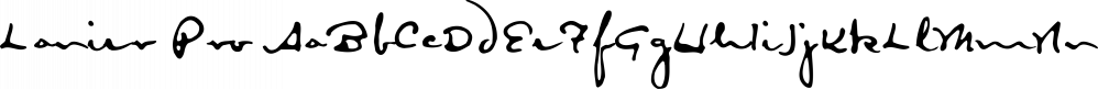 Lanier Pro font family by E-phemera Fonts