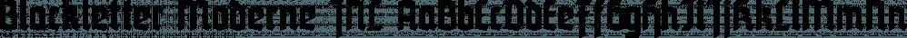 Blackletter Moderne JNL font family by Jeff Levine Fonts
