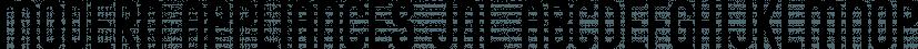 Modern Appliances JNL font family by Jeff Levine Fonts