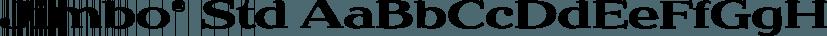 Jimbo® Std font family by Adobe