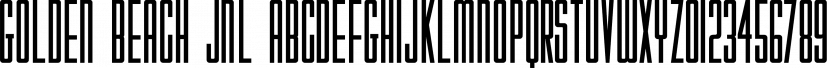 Golden Beach JNL font family by Jeff Levine Fonts