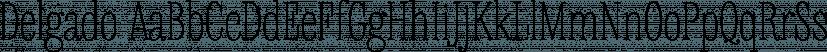 Delgado font family by Gaslight