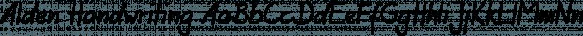 Alden Handwriting font family by FontSite Inc.
