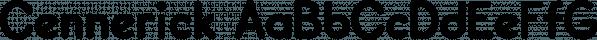 Cennerick font family by Ingrimayne Type