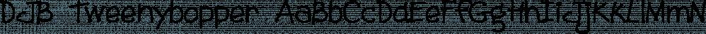 DJB Tweenybopper font family by Darcy Baldwin Fonts
