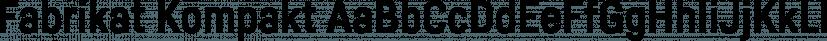 Fabrikat Kompakt font family by HVD Fonts