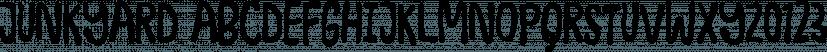 Junkyard font family by Pizzadude.dk