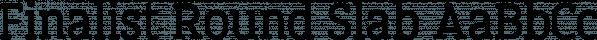 Finalist Round Slab font family by Bülent Yüksel