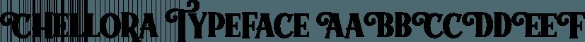 Chellora Typeface font family by Picatype Studio
