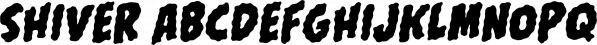 Shiver font family by Comicraft