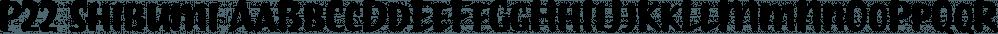 P22 Shibumi font family by International House of Fonts