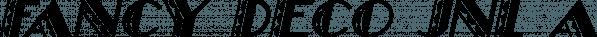 Fancy Deco JNL font family by Jeff Levine Fonts