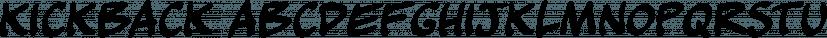 Kickback font family by Comicraft