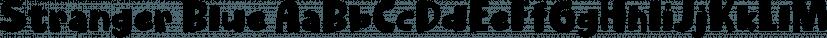 Stranger Blue font family by Pizzadude.dk