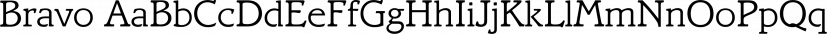Bravo font family by FontSite Inc.