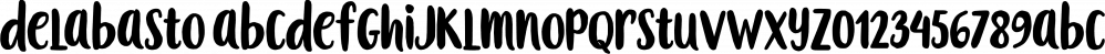 Delabasto font family by Seniors Studio