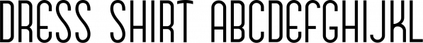 Dress Shirt JNL font family by Jeff Levine Fonts