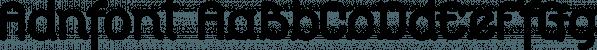 Adnfont font family by MINDCANDY