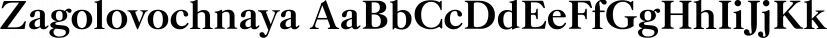 Zagolovochnaya font family by ParaType