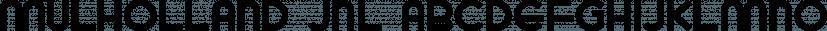 Mulholland JNL font family by Jeff Levine Fonts