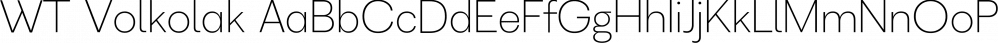 WT Volkolak font family by Wraith Types