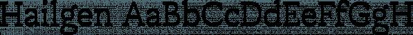 Hailgen font family by Akufadhl