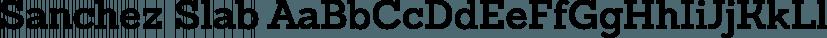 Sanchez Slab font family by Latinotype