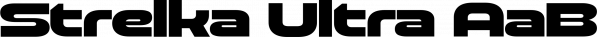 Strelka Ultra font family by Schizotype Fonts