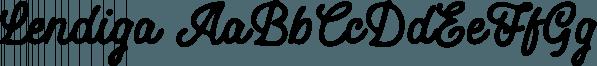 Lendiga font family by Locomotype