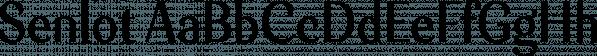 Senlot font family by Insigne Design