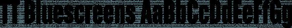TT Bluescreens font family by Typetype