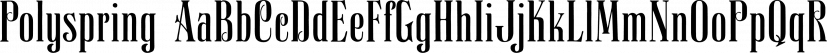 Polyspring font family by PintassilgoPrints