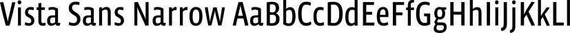 Vista Sans Narrow font family by Emigre