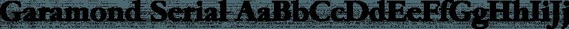 Garamond Serial font family by SoftMaker