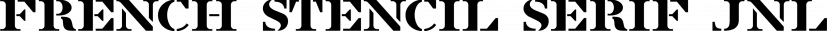 French Stencil Serif JNL font family by Jeff Levine Fonts
